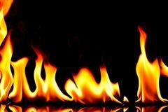 Flamas do incêndio no preto Imagem de Stock Royalty Free