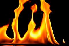 Flamas do incêndio no preto Foto de Stock