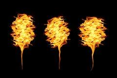 Flamas do incêndio no preto Fotografia de Stock Royalty Free