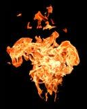 Flamas do incêndio que levantam altamente Foto de Stock Royalty Free