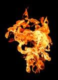 Flamas do incêndio que levantam altamente Imagens de Stock Royalty Free