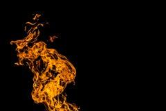 Flamas do inc?ndio no fundo preto fogo no fundo preto isolado Testes padr?es do fogo imagens de stock royalty free