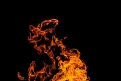 Flamas do inc?ndio no fundo preto fogo no fundo preto isolado Testes padr?es do fogo fotografia de stock