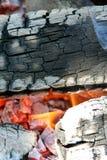 Flamas e cinzas Fotografia de Stock Royalty Free