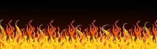 Flambe l'en-tête de Web illustration stock