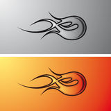 flambe le tatoo tribal Photos stock