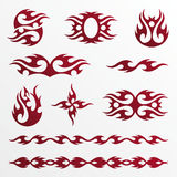 flambe le tatoo tribal illustration stock