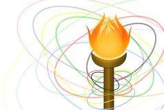 Flambeau och cirklar   Royaltyfri Fotografi