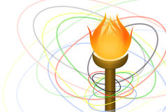 Flambeau and rings. Vector flam beau and rings on a white background Royalty Free Stock Photography