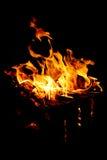 Flamber d'incendie Photos libres de droits