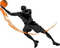 Flamber de basket-ball étendu  Image libre de droits