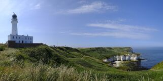 Free Flamborough Head Lighthouse, North Yorkshire, UK, Looking Out To The North Sea Stock Photos - 172760323