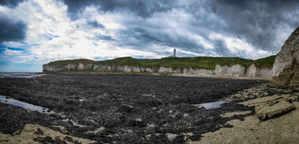 Flamborough Head and Lighthouse Stock Image
