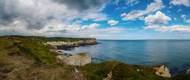 Flamborough Head and Lighthouse stock photography