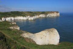 Flamborough-Kopf, der heraus zum Meer schaut Stockfotografie
