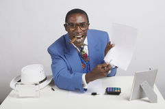 Flamboyant agent. Sign here for this flamboyant looking agent Stock Photography