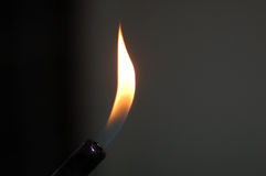 Flame. From candle lighter royalty free stock images