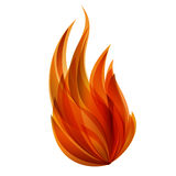 Flame. Vector image of a fire Royalty Free Stock Image