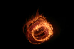 Flame. Abstract flame background from a real fire Royalty Free Stock Photo