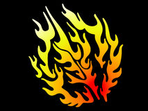 Flame. As a  tattoo, vector illustration Stock Photography