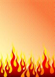 Flame. On a light background. A vector illustration Stock Photos