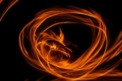 Flame. Abstract flame background from a real fire Stock Photography