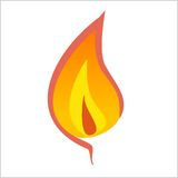 Flame. With inner core and outer core Stock Image
