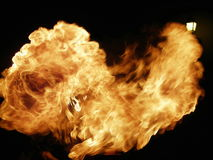 Flame. Spitting of fire Royalty Free Stock Photos
