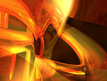 Flame 3D abstract. Fire flame glowing 3D abstract Royalty Free Stock Images