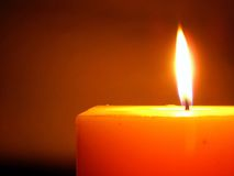 Flame. Candle Stock Image