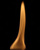 Flame. Isolated against a black background Stock Images