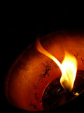 Flame. Fire in the night Royalty Free Stock Image