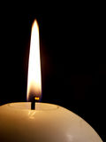 Flame. Of the candle on the black background Royalty Free Stock Photos