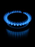 Flame. Photo of propane flame ring, on black Royalty Free Stock Photography