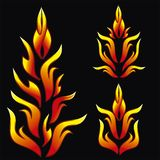 Flame. Fire vector for tatto and car  tuning Royalty Free Stock Photo