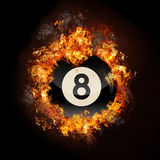Flame 8 Ball Stock Image