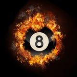 Flame 8 Ball Stock Image