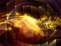 The Flame of Abstract Visualization Royalty Free Stock Photo