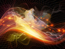 The Flame of Abstract Visualization Stock Photography