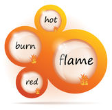 Flame abstract web design Stock Photography