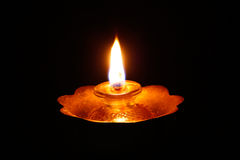 The flame against a black background Stock Photography