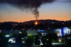 Flame Alert: The Chevron Oil Refinery In Richmond royalty free stock photo