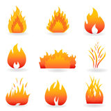 Flame And Fire Symbols Stock Image