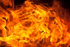 Flame Background. A detailed background of flames close up Royalty Free Stock Images