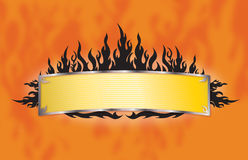 Flame Banner. Vector Artwork of flame Banner Royalty Free Stock Images