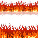 Flame Banner Set. An image of a set of flame fire banner borders Royalty Free Stock Images