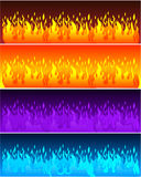 Flame banners. Fire background Royalty Free Stock Images