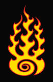 Flame on black. Swirl flame isolated on black Stock Images