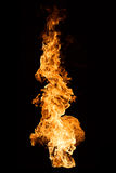 Flame on Black Royalty Free Stock Photos