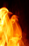 Flame on black background Royalty Free Stock Photo